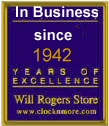 Grandfather Clocks, Mantel Clocks, Curio Cabinets, and Electric Fireplaces--in business serving you for 60 years!