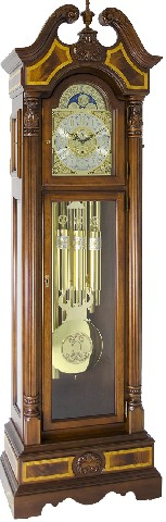 Hermle Grandfather Clock - made in USA - 010905-031171