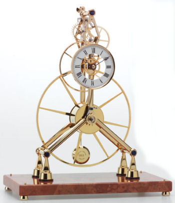 The Great Three-Wheel Skeleton Clock by Sinclair Harding