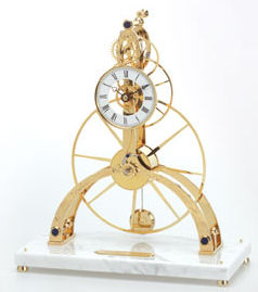 The Great Three Wheel Skeleton Clock - Light colored Base
