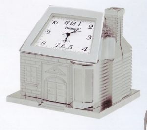 Platinum Professional Miniature Clock - House C286SIL