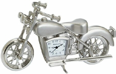 C263SIL - Silver Motorcycle Clock