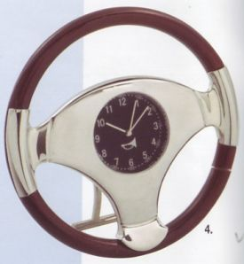 Platinum Transportation Miniature Clock-Steering Wheel- 1101-40