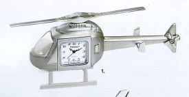 Platinum Transportation Miniature Clock 816SIL-Helicopter