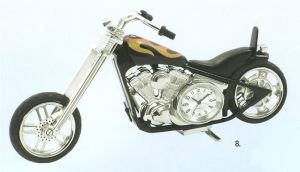 Platinum Transportation Miniature Clock - Fire Bike - ST1324