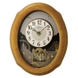 4MH863-WU07 Rhythm Clock, Timecracker Golden Oak II